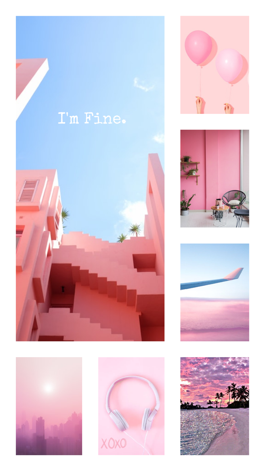 Pinky💕 #wallpaper #pink #background #lockscreen #pinky - Light Blue And Pink Aesthetic - HD Wallpaper