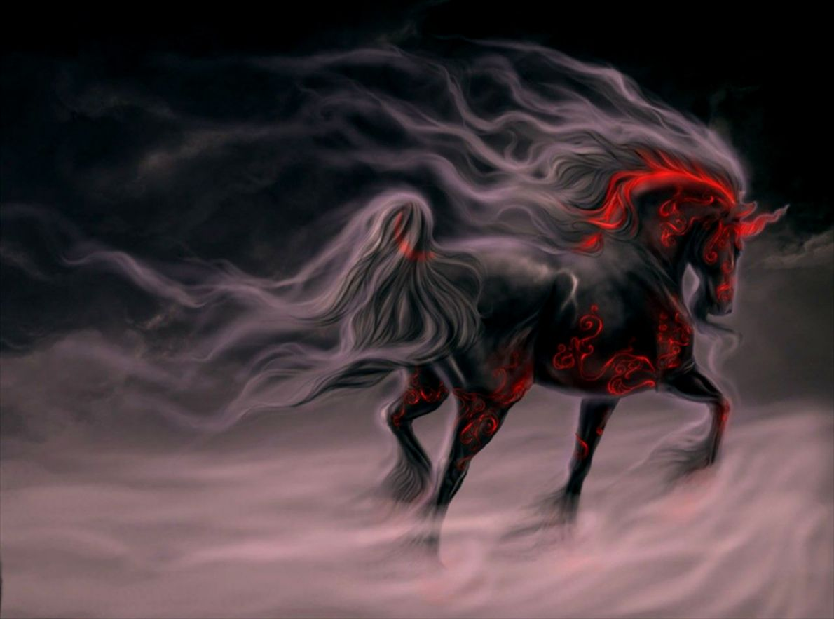 Cool Horse Wallpapers Group Black And Red Horse 1190x883 Wallpaper Teahub Io