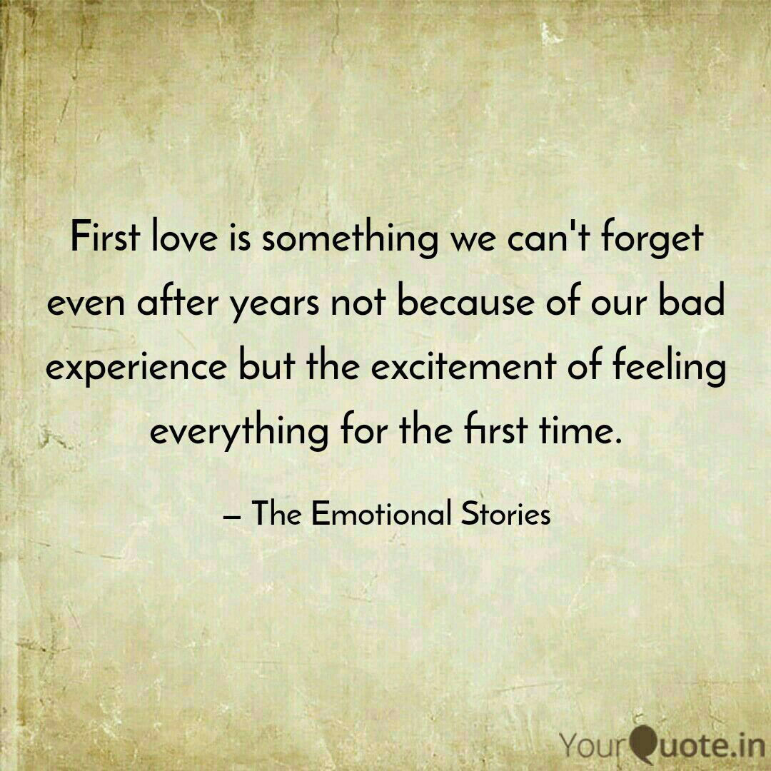 First Love Emotional Quotes - HD Wallpaper