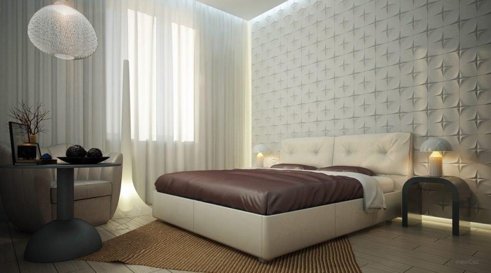 Wall Texture Design Ideas For Bedroom - HD Wallpaper