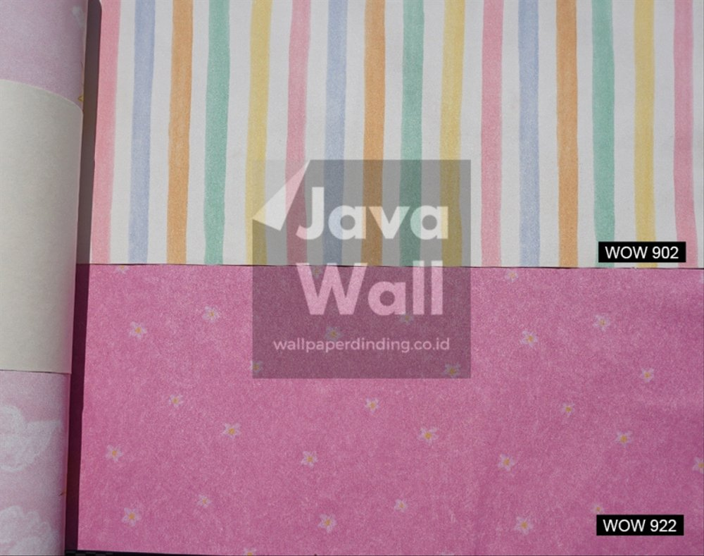 Wallpaper Dinding Kamar Anak Wow 902 Motif Garis Warna - Pattern - HD Wallpaper