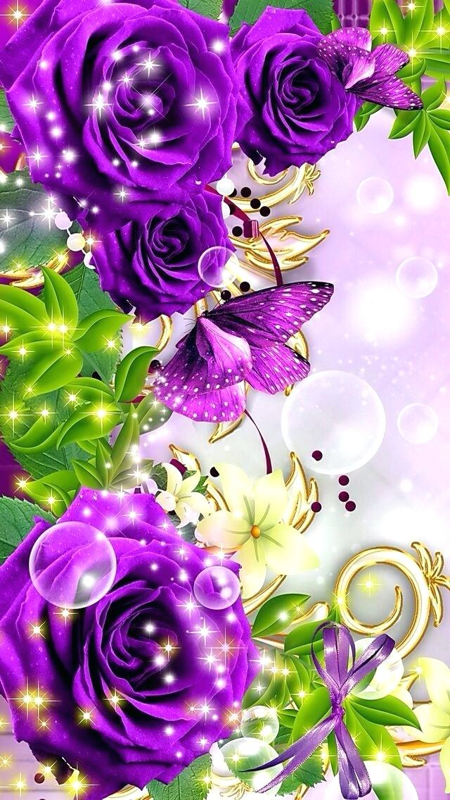 Animated Flowers Wallpaper Animated Mobile Phone Wallpapers - Beautiful Animated Wallpaper For Mobile Phone - HD Wallpaper