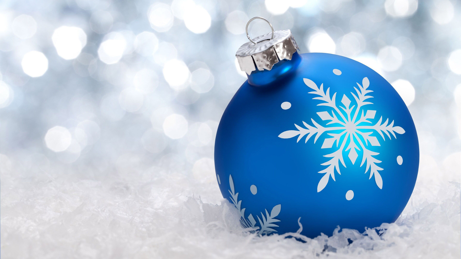 Blue Christmas Ornament Hd Wallpaper Blue Data Src Happy New Year 2018 Sister 1920x1080 Wallpaper Teahub Io