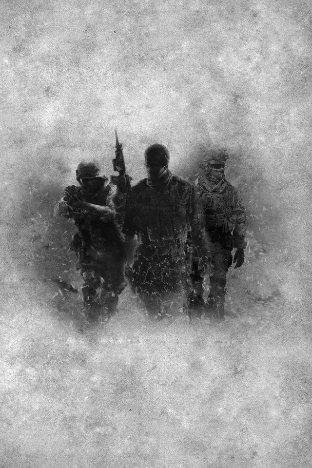 Call Of Duty Modern Warfare Background Hd 640x960 Wallpaper