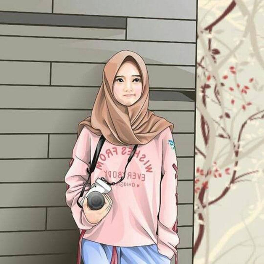 1000 Gambar Kartun Wanita Muslimah Cantik Dan Lucu - Instagram - HD Wallpaper