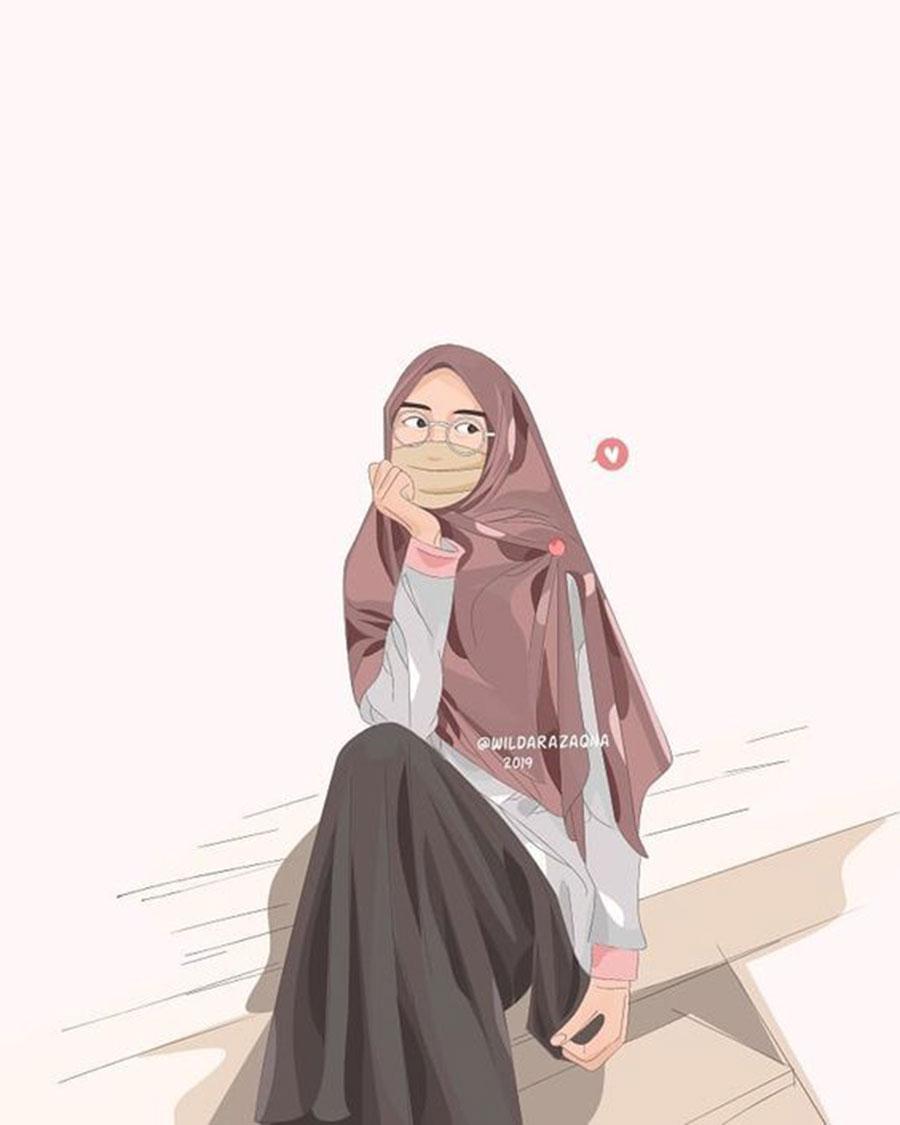 1000 Gambar Kartun Wanita Muslimah Cantik Dan Lucu Kartun Muslimah 900x1125 Wallpaper Teahub Io
