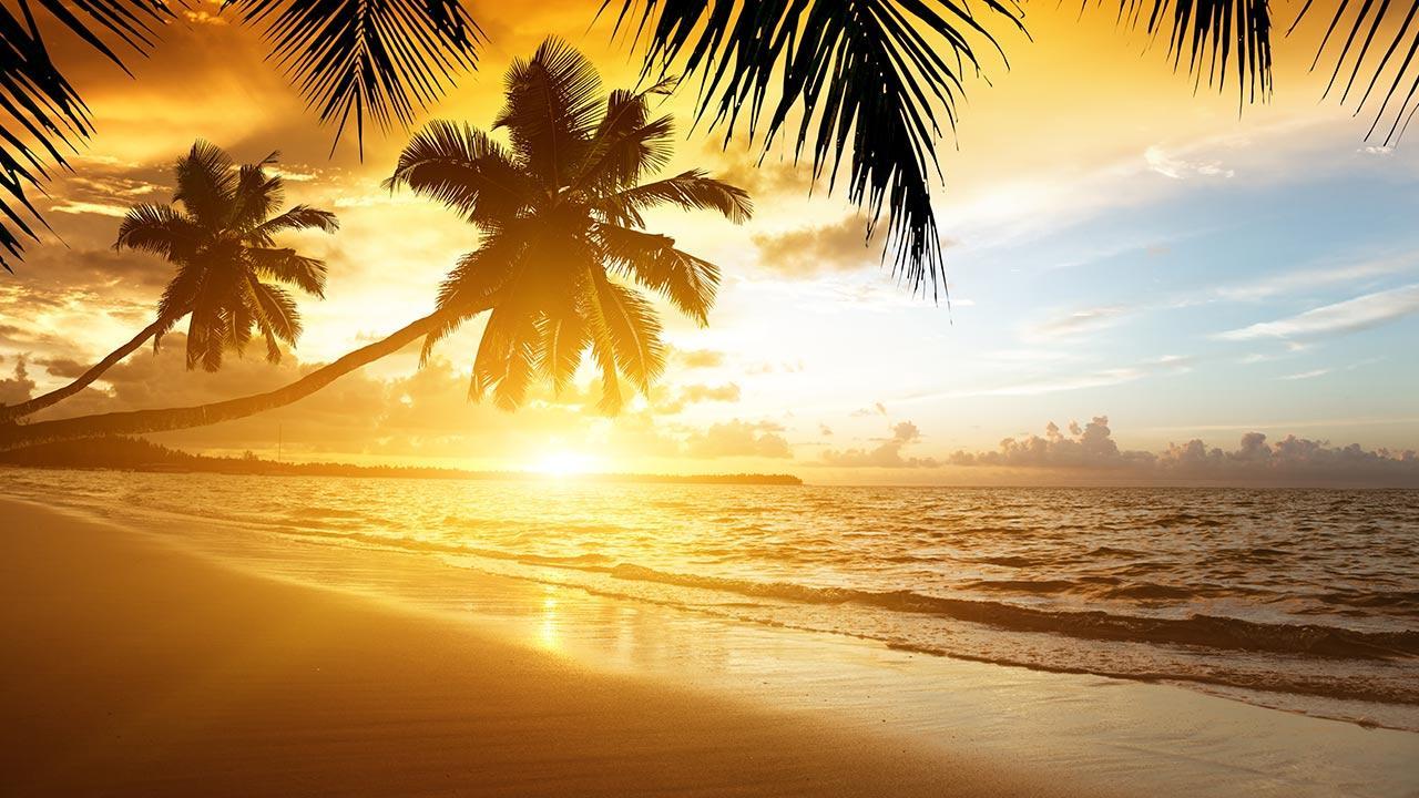 Beach Wallpaper - Live Wallpaper Sunset - HD Wallpaper