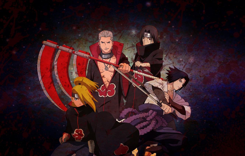 Photo Wallpaper Blood, Naruto, Blood, Naruto, Anime, - Sasuke Uchiha - HD Wallpaper