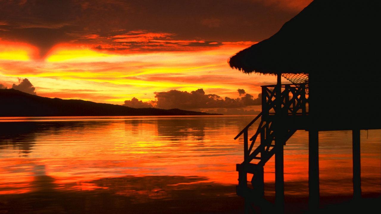Beach Sunset Live Wallpaper Desktop Sunset Wallpaper Hd 1280x720 Wallpaper Teahub Io