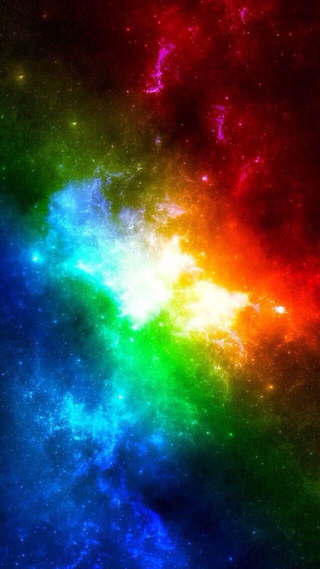 116 1166262 galaxy rainbow wallpaper hd