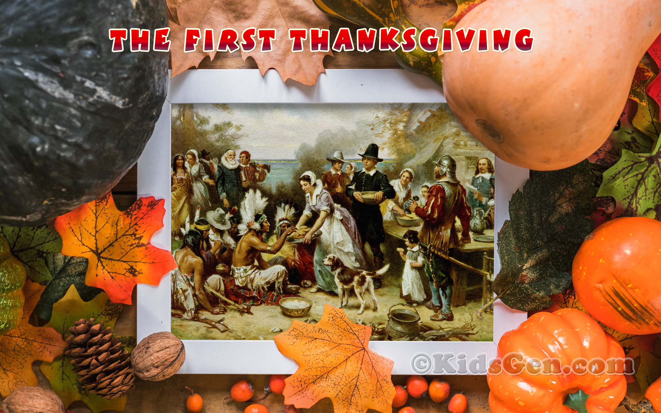 Hd Wallpaper Of The First Thanksgiving - Happy Thanksgiving Native Americans - HD Wallpaper