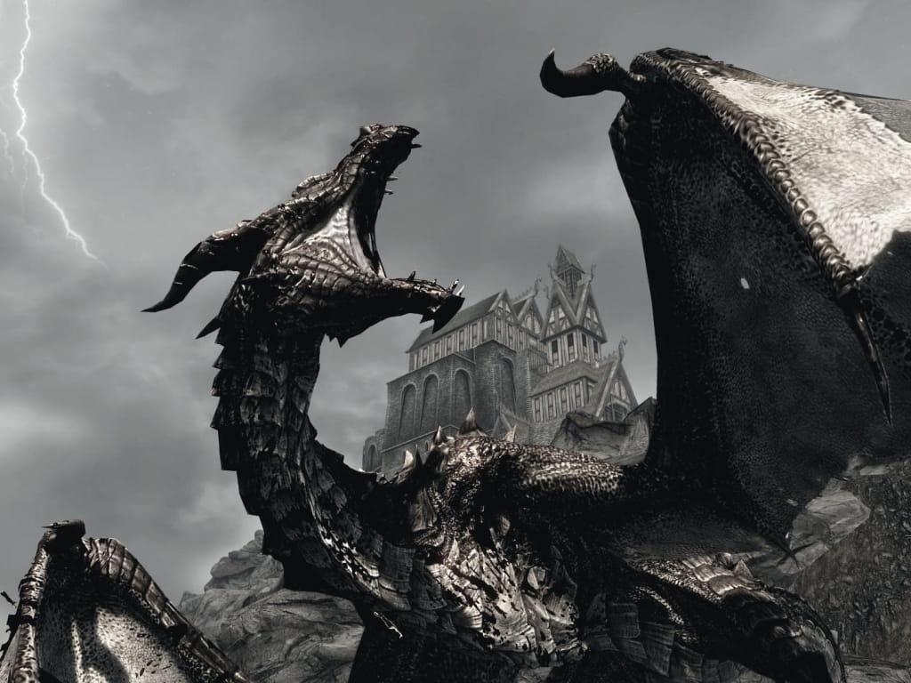 Skyrim Location Legendary Dragon - 1024x768 Wallpaper ...