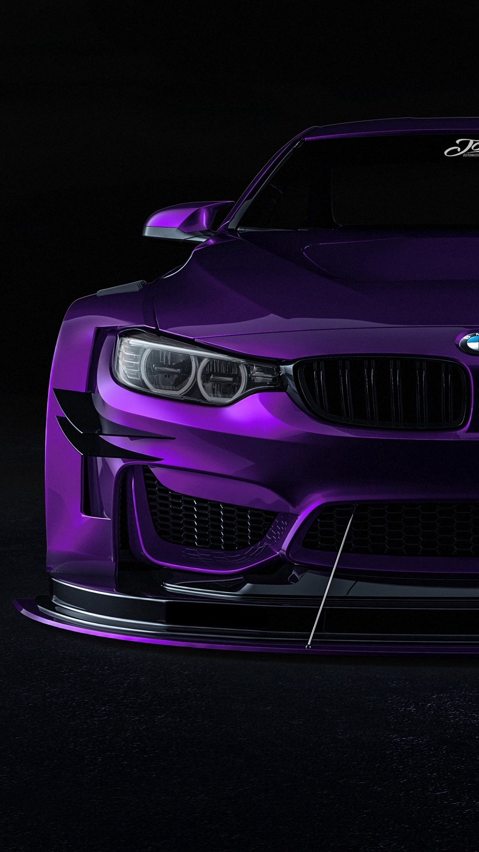 Wallpaper Bmw Car Sportscar Purple Front View Bmw Desktop 938x1668 Wallpaper Teahub Io