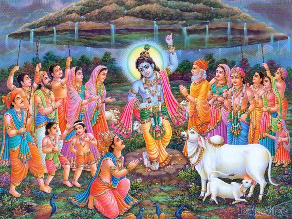 Govardan-hill - Full Size Images Of Lord Krishna - HD Wallpaper