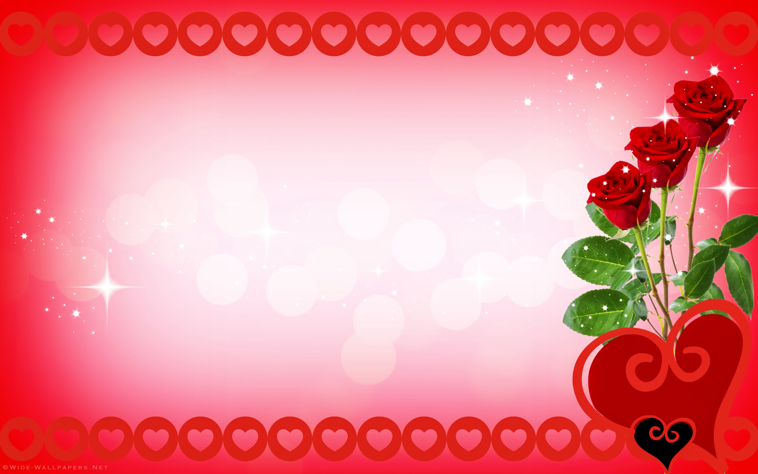 2560x1600, Valentine Hearts Wallpaper Valentines Day - Backgrounds With Rose & Hearts - HD Wallpaper