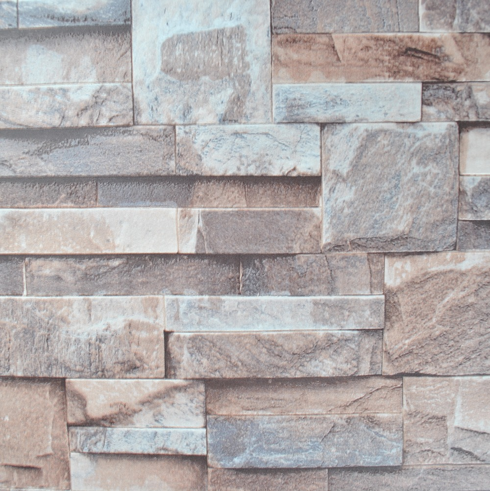 Kitchen 3d Effect Embossed Brick Stone Wallpaper Vinyl - Grey Brick Wall Texture - HD Wallpaper