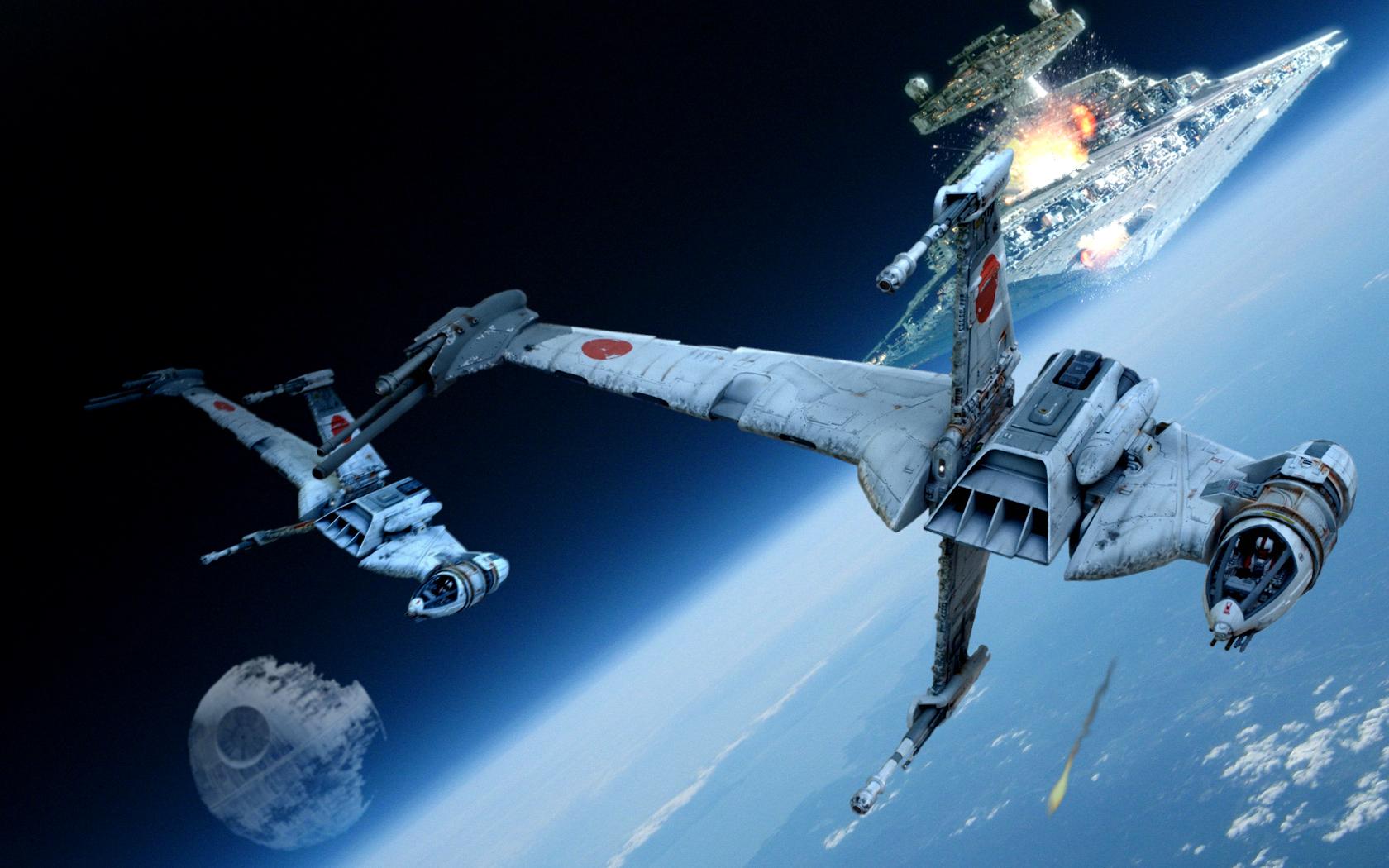 Wallpaper Star Wars Asymmetrical Ships 1680x1050 Wallpaper Teahub Io