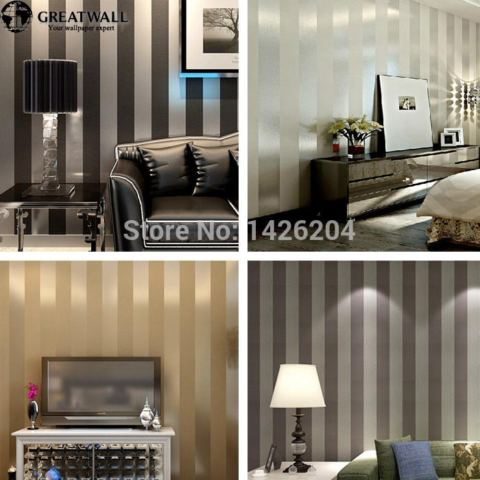 Black And White Stripes Wall Color - HD Wallpaper