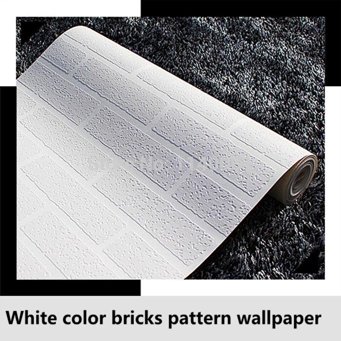 White Bricks Wallpaper Roll - HD Wallpaper