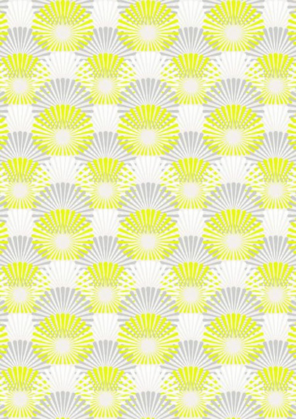 Yellow And Grey Wallpaper B Q Pattern 600x849 Wallpaper Teahub Io