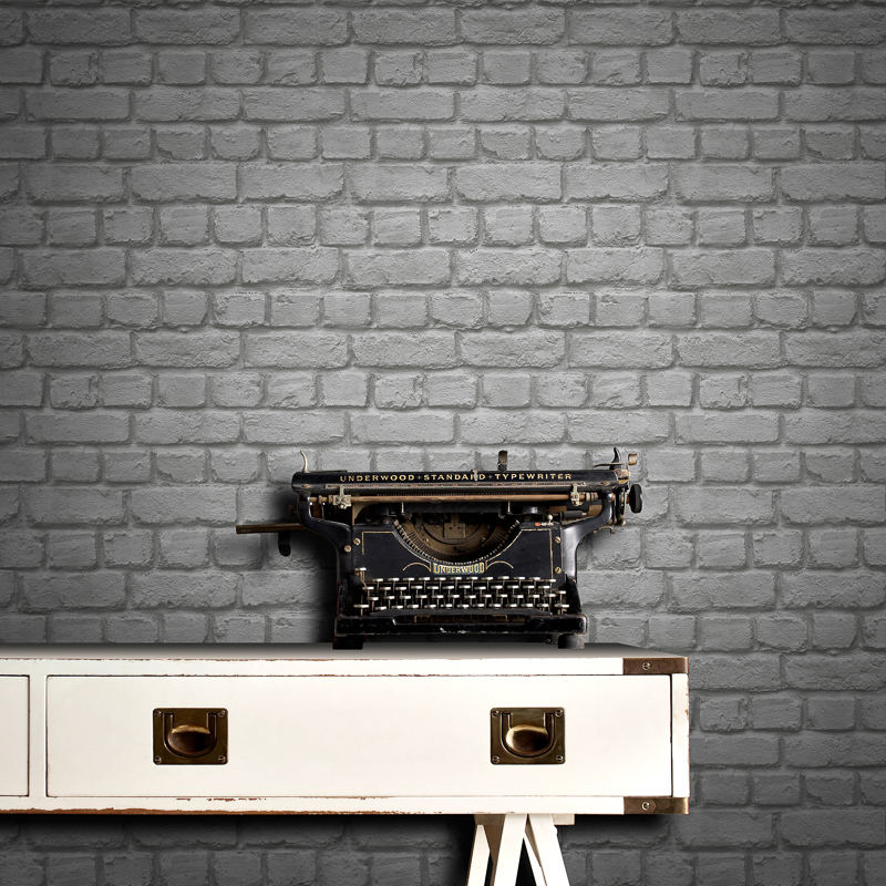 Rasch Brick Wallpaper - Brick Wall Paper Grey - HD Wallpaper