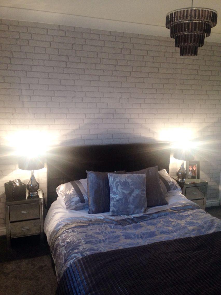White Brick Wall Bedroom Ideas - HD Wallpaper