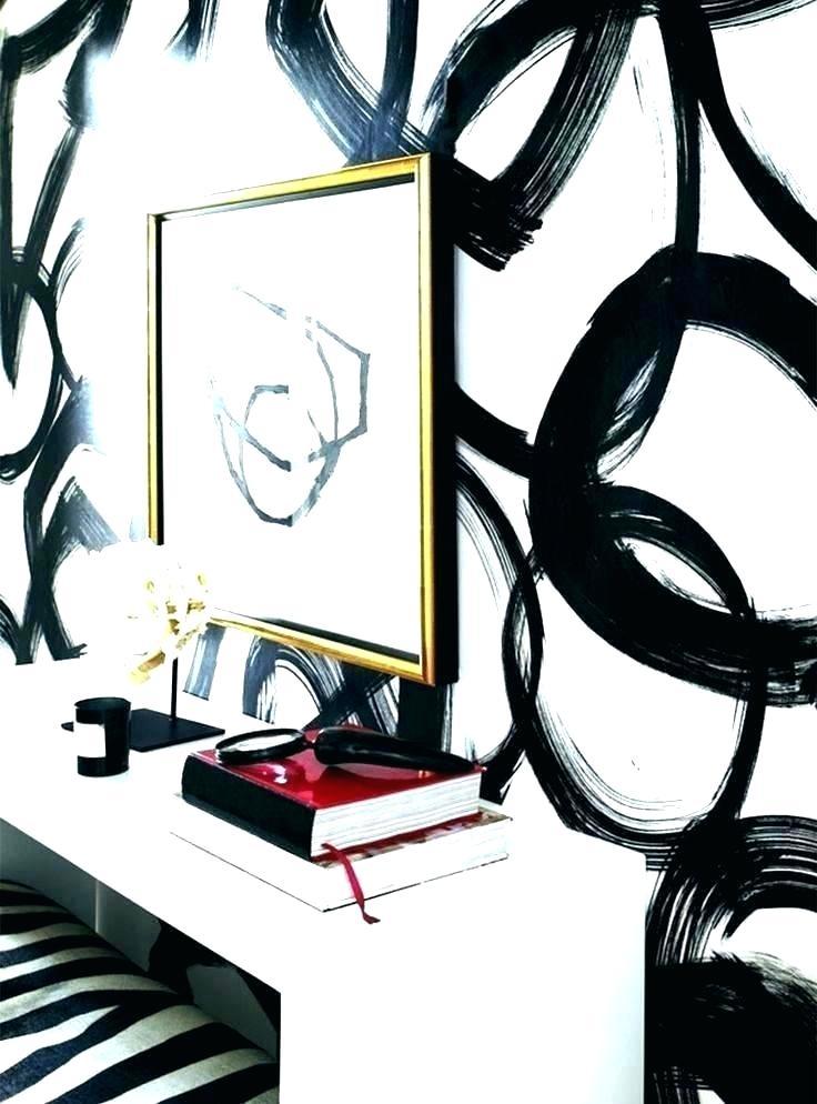 Black And Gold Bedroom Wallpaper Black And White Bedroom - Abstract Black And White Wall Painting - HD Wallpaper