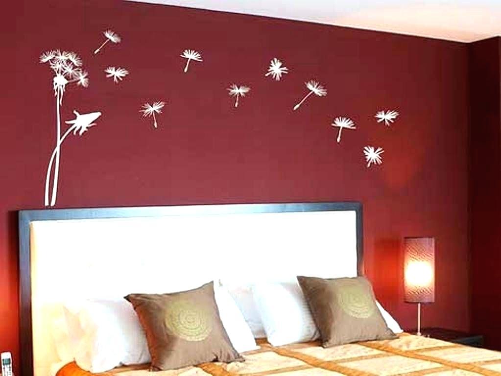 Red Wall Bedrooms Walls Bedroom White Brick Wallpaper - Bedroom Wall Paint Design - HD Wallpaper