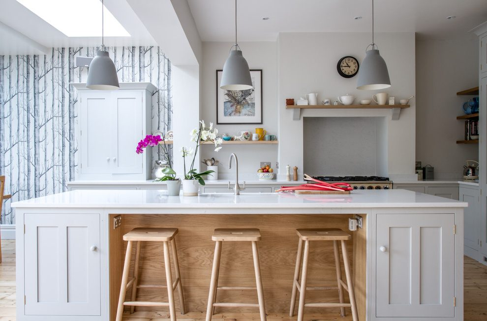 Kitchen Diner And Woodland Wallpaper Accent Wall Alcove Kitchen 990x654 Wallpaper Teahub Io