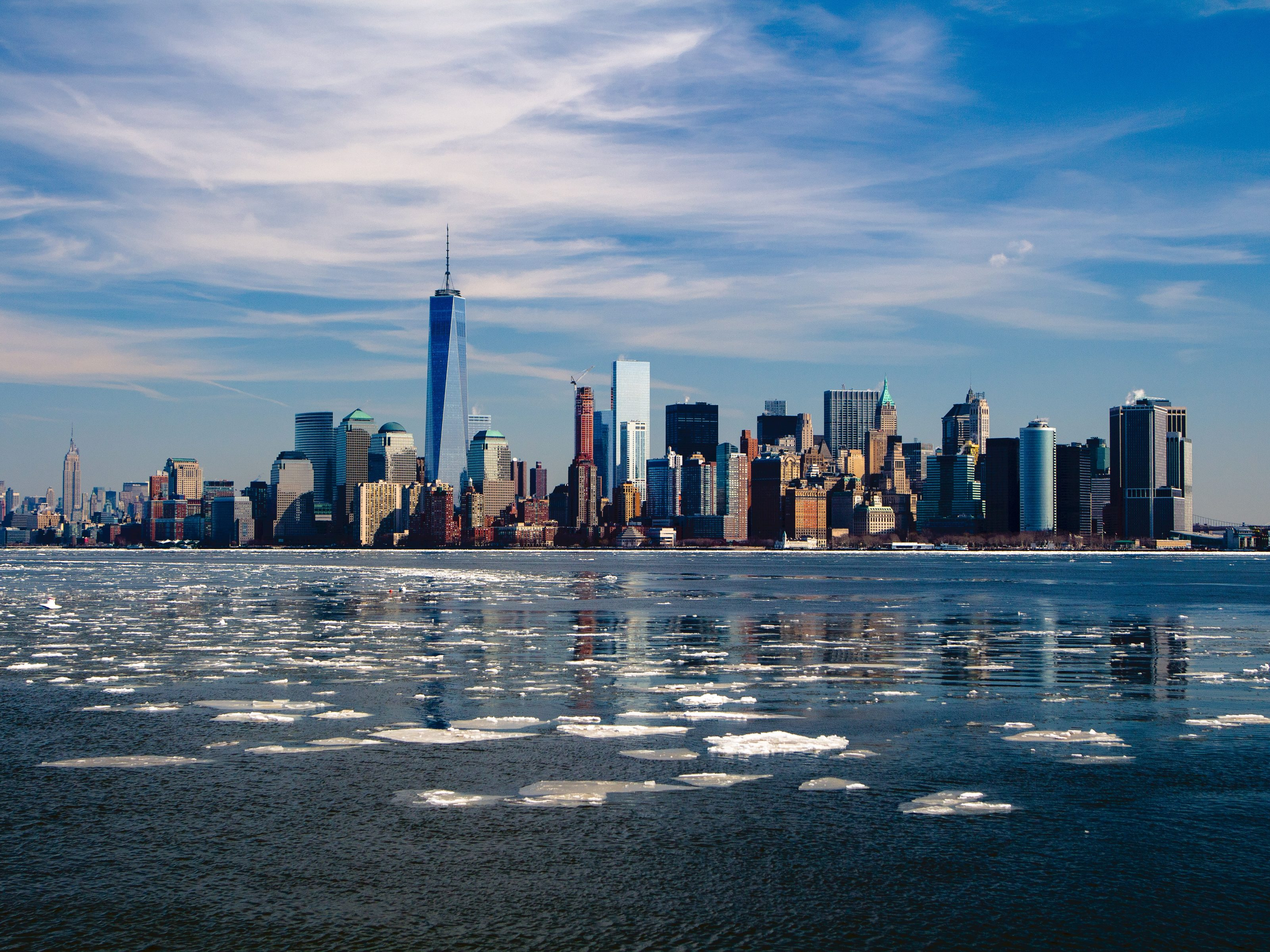 New York Skyscraper Skyline - HD Wallpaper