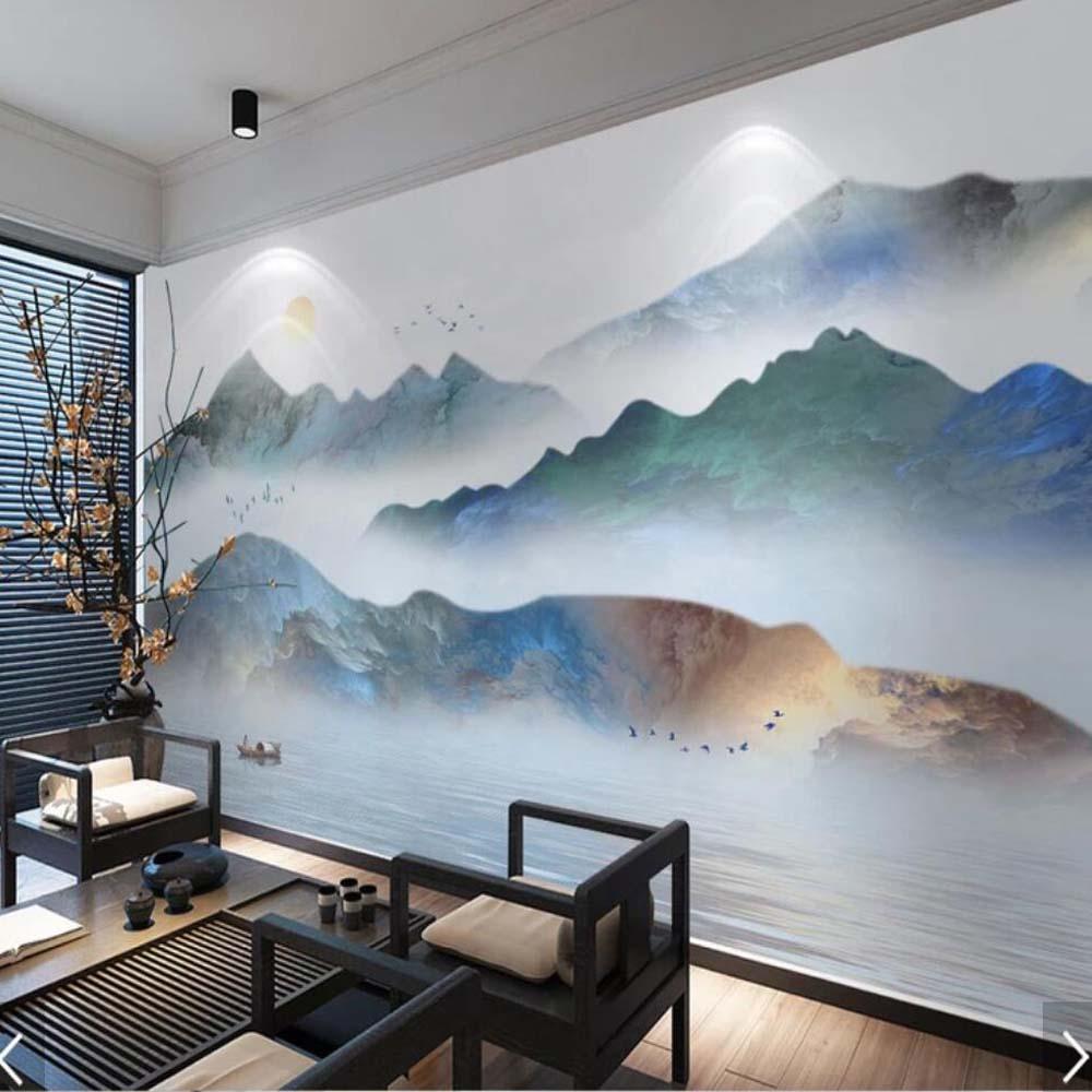 Hand Painted Bedroom Wall Mural - HD Wallpaper