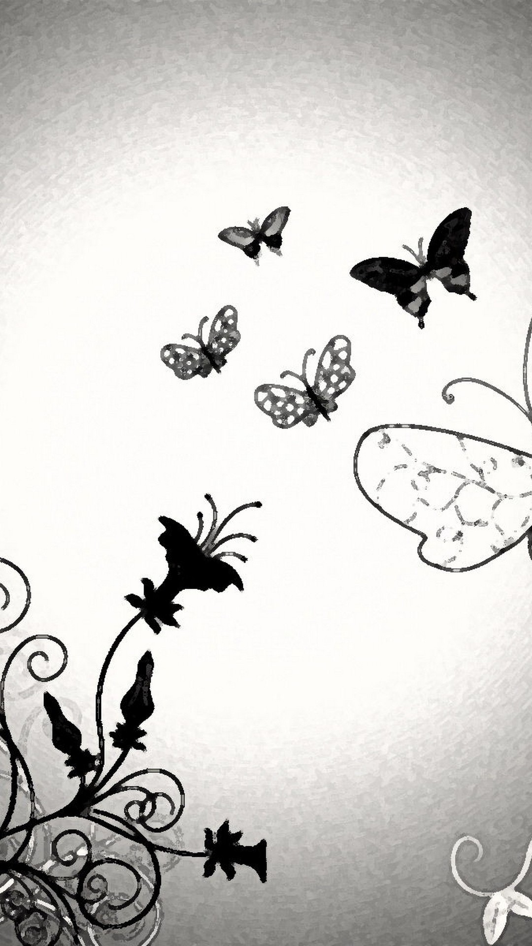 Iphone 8 Wallpaper Butterfly Design Resolution Butterfly Background Black And White 1080x1920 Wallpaper Teahub Io
