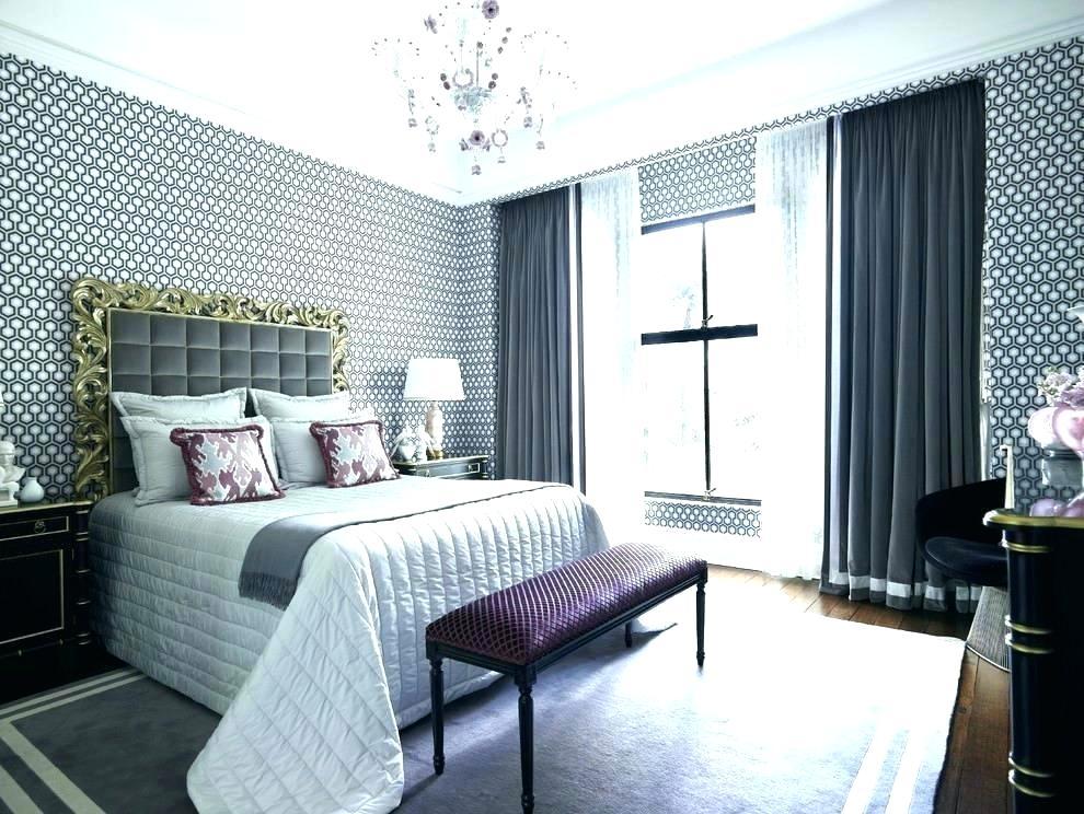 Wallpaper In Bedroom On One Wall Modern R For Bedroom - Master Bedroom Sheer Curtains - HD Wallpaper