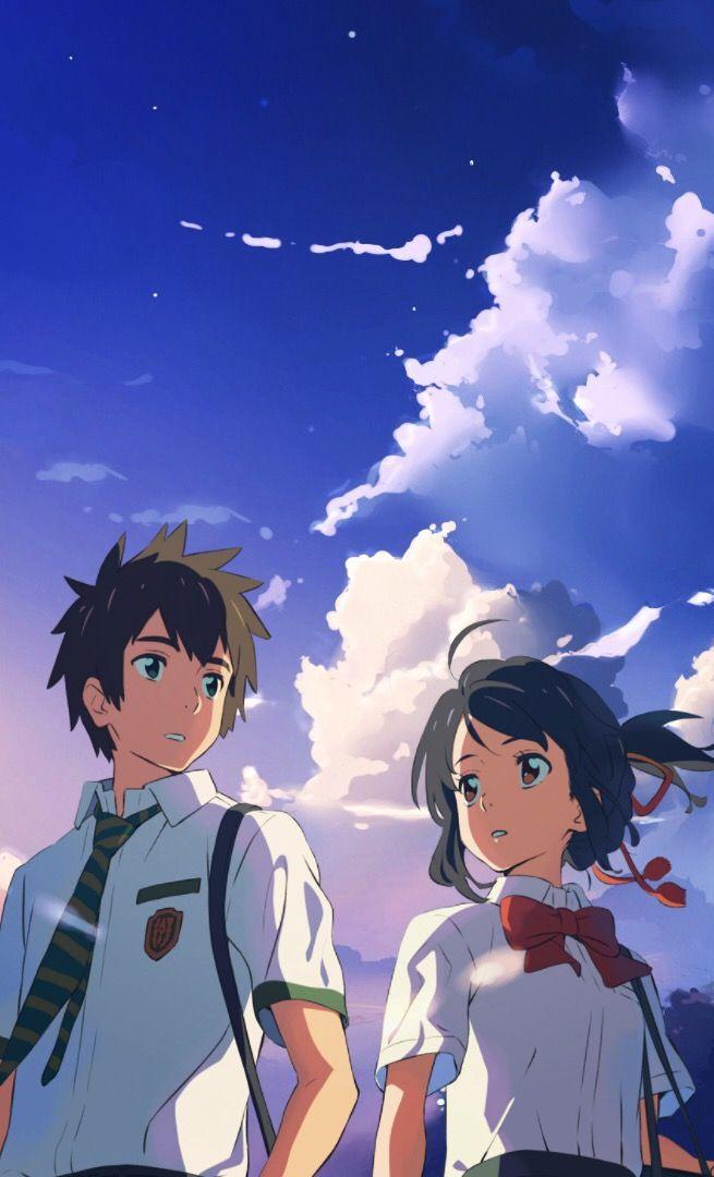 #yourname #kiminonawa #takitachibana #taki #mitsuhamiyamizu - Sky Clouds Wallpaper Hd - HD Wallpaper