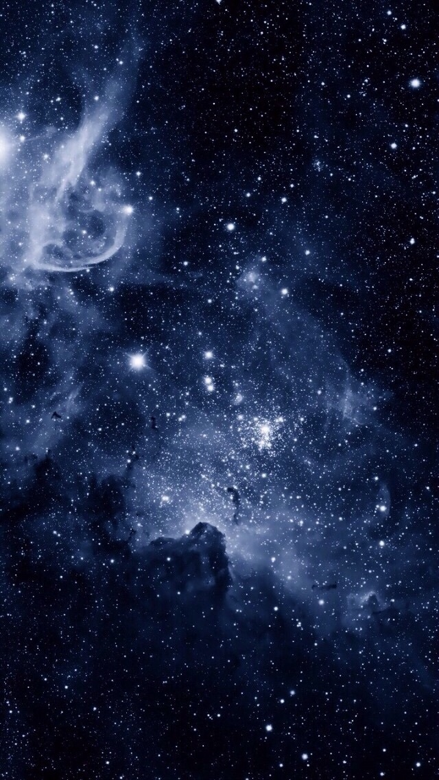 Galaxy, Stars, And Wallpaper Image - Aesthetic Dark Blue Galaxy - HD Wallpaper