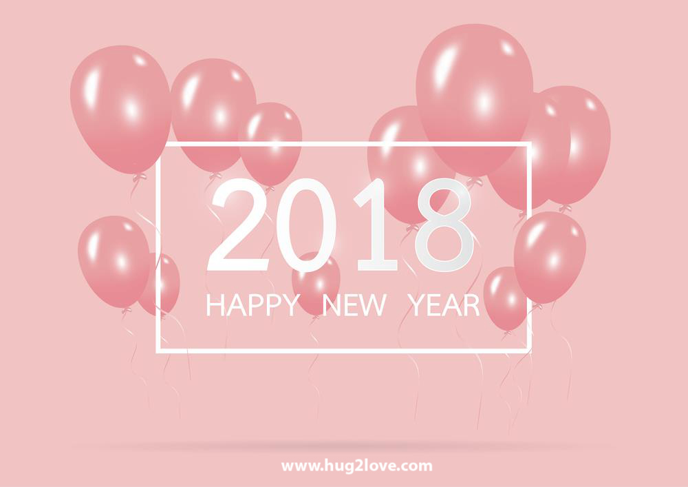 Pink 2018 Happy New Year Hd Wallpaper Image To Greeting - Hello 2019 Bye Bye 2018 - HD Wallpaper