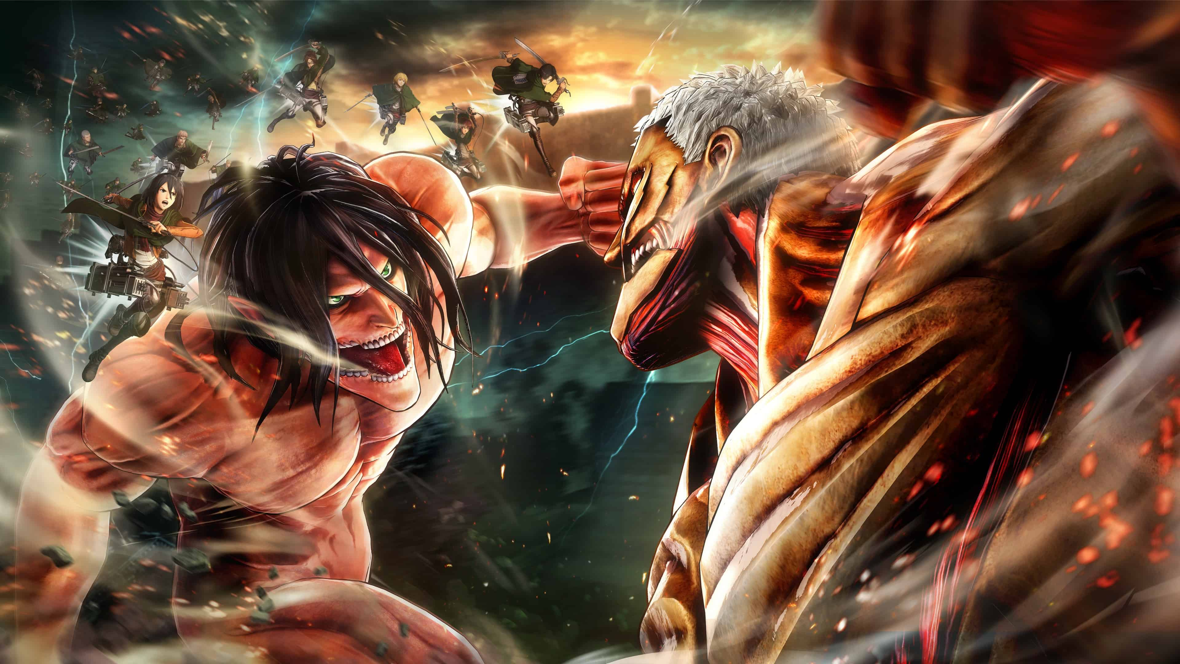 Attack On Titan 2 Cover Uhd 4k Wallpaper - Attack On Titan Wallpaper 4k - HD Wallpaper