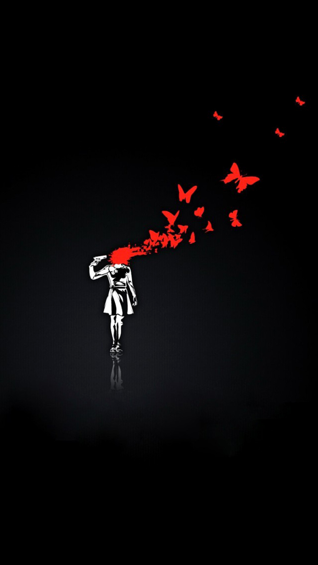 1080x1920, Funny Iphone Wallpapers Lovely Funny Iphone - Broken Heart Black Background - HD Wallpaper