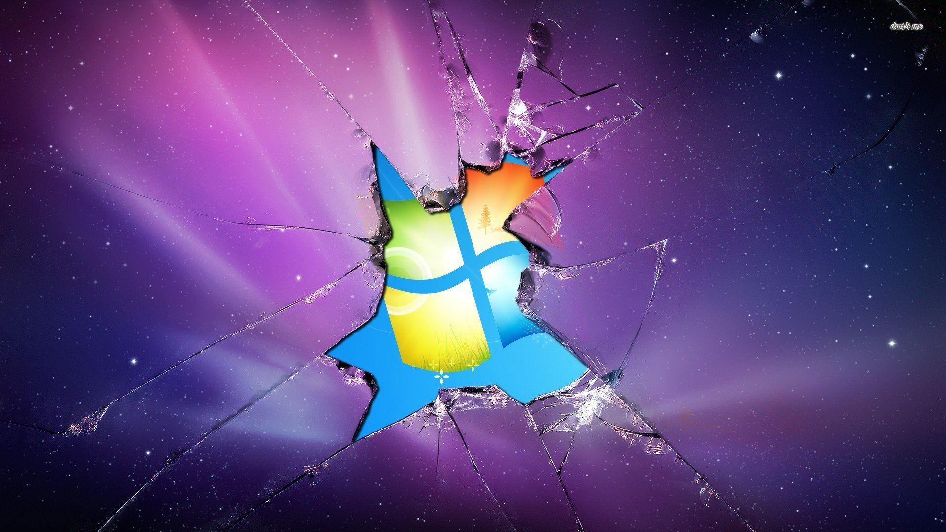 Cracked Screen Wallpaper Creeper - Broken Screen Wallpapers Windows 7 - HD Wallpaper