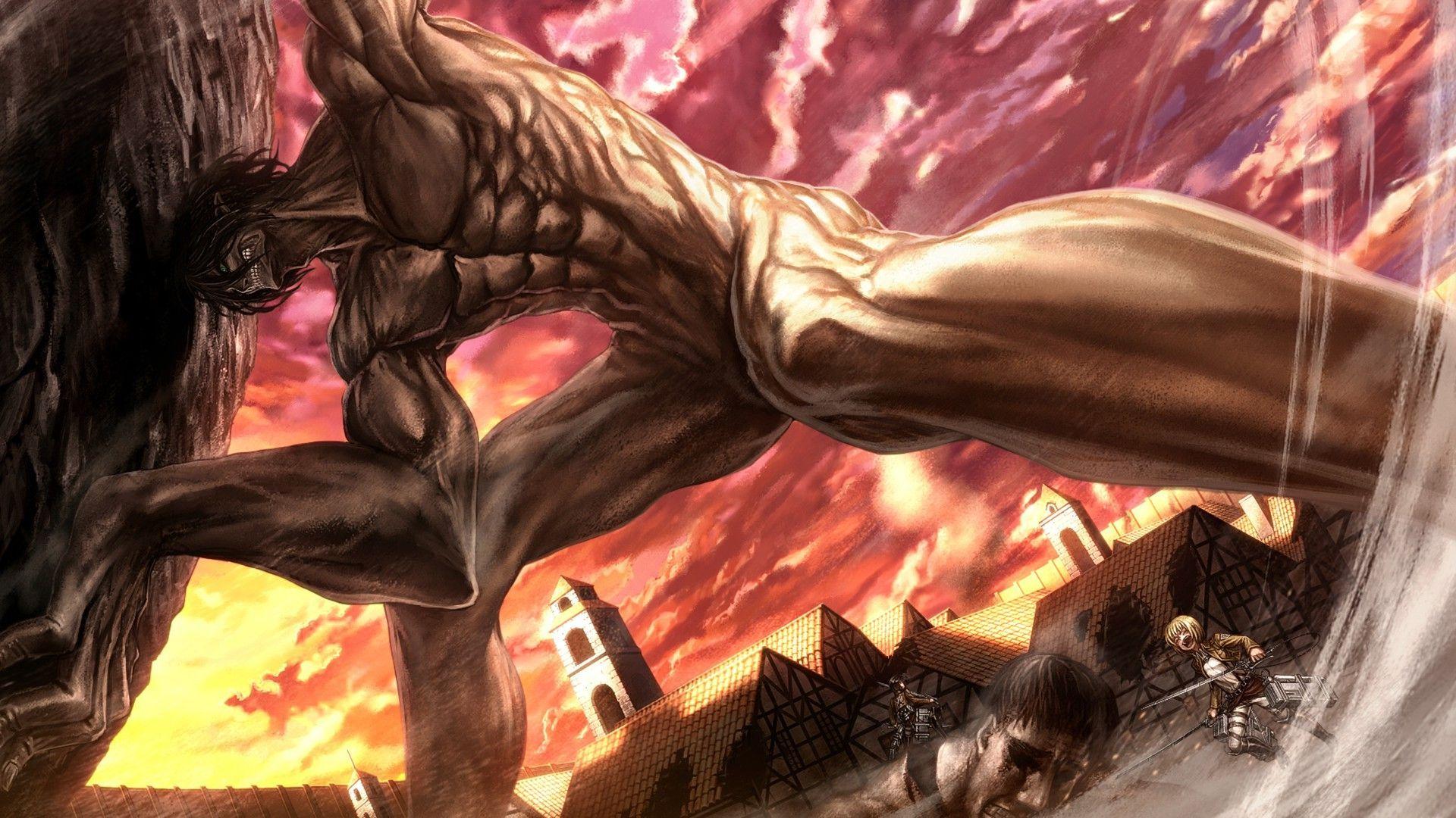 Attack On Titan Wallpaper Attack On Titan Wallpaper Titans 1920x1080 Wallpaper Teahub Io