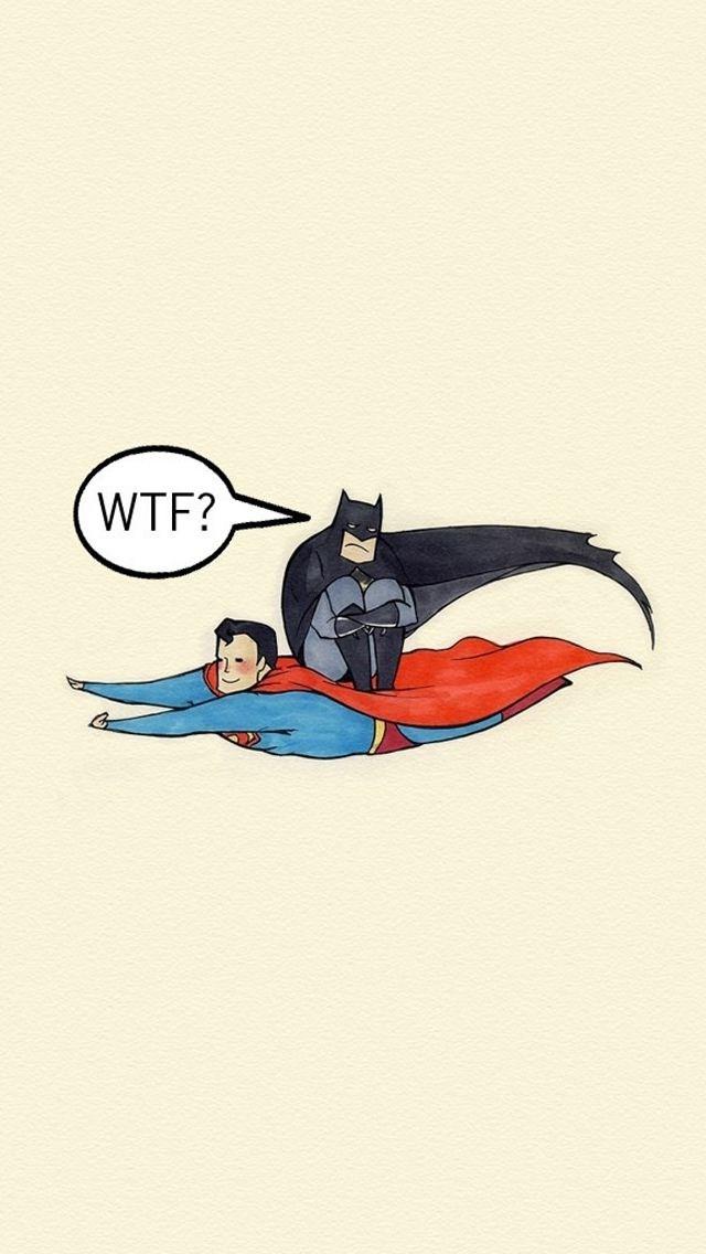 Batman Riding Superman Funny Iphone Wallpapers Free - Batman Riding Superman - HD Wallpaper