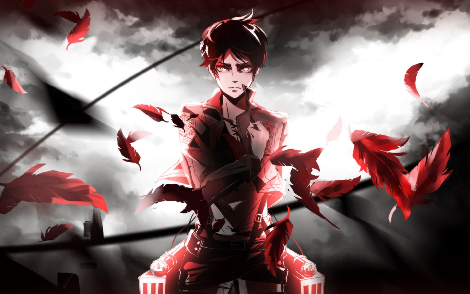 Attack On Titan Wallpaper Eren 1920x1200 Wallpaper Teahub Io