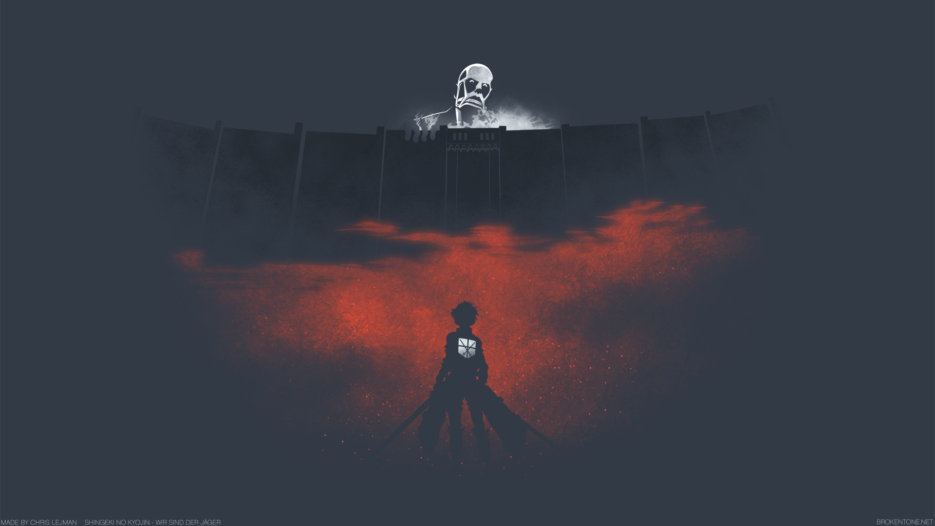 G Shingeki No Kyojin Eren Yeager Bertolt Hoover Attack On Titan Wallpaper Simple 1920x1080 Wallpaper Teahub Io