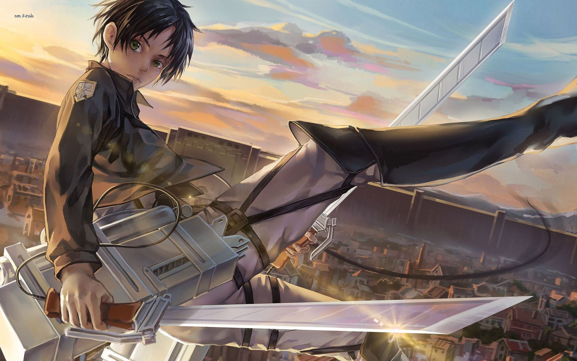 Cute Attack On Titan Eren Yeager Full Hd Image - Eren Yeager - HD Wallpaper