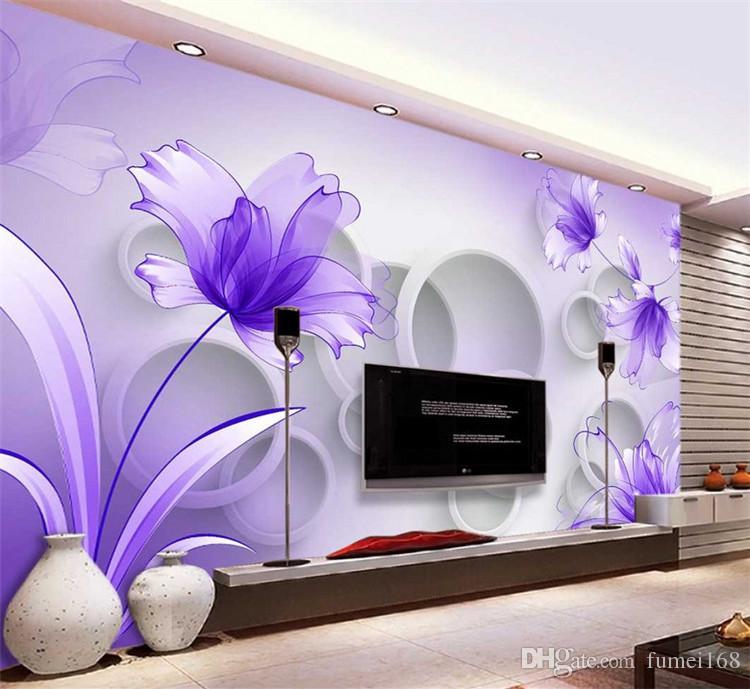Living Room 3d Wall Paper Design - HD Wallpaper