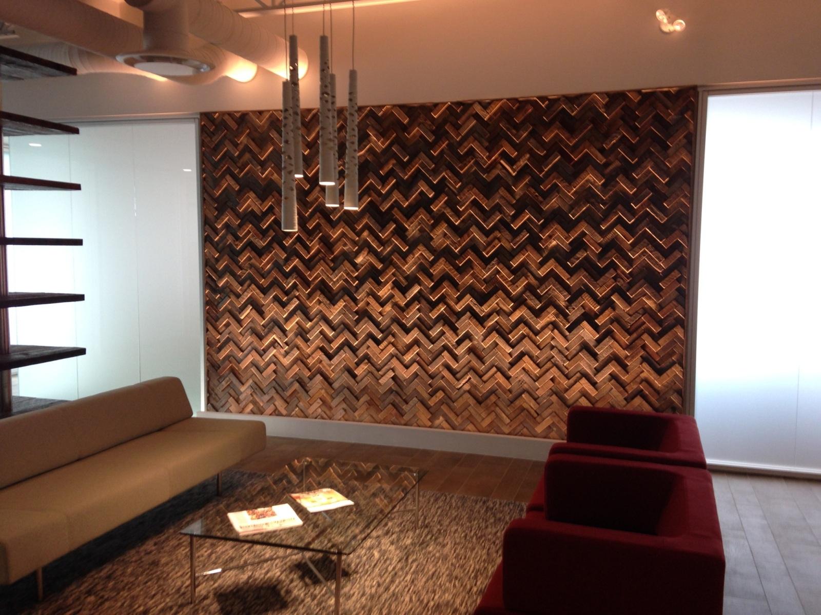 Wooden Feature Wall Design - HD Wallpaper