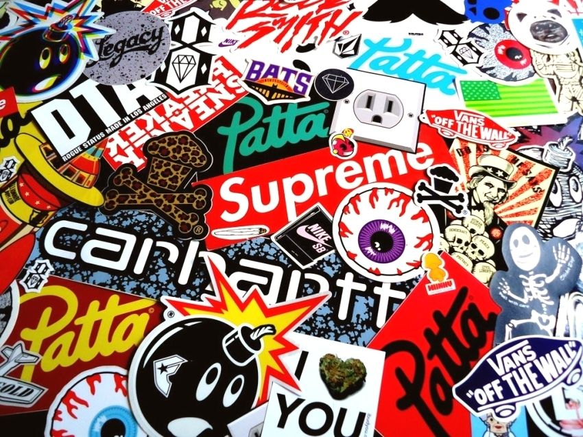 Supreme Floral Wallpapers Full Hd ~ Jllsly - Supreme Sticker Bomb - HD Wallpaper