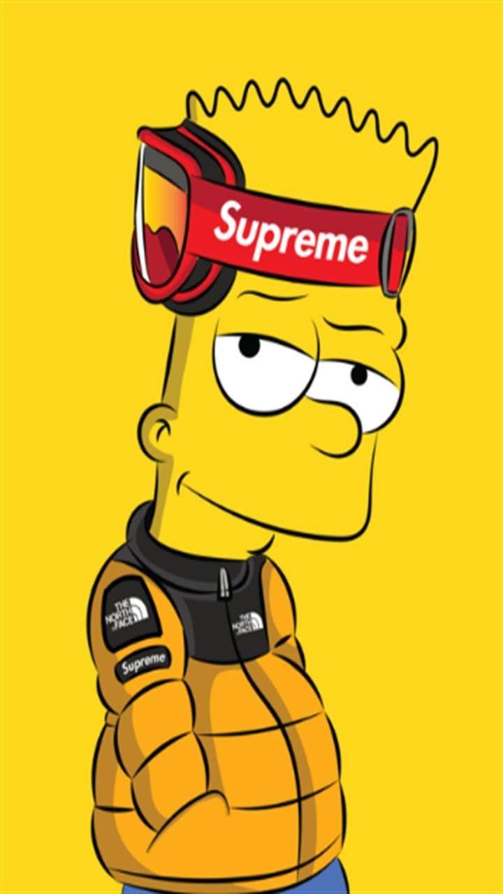 Supreme Wallpaper Bart Simpson - 720x1280 Wallpaper ...
