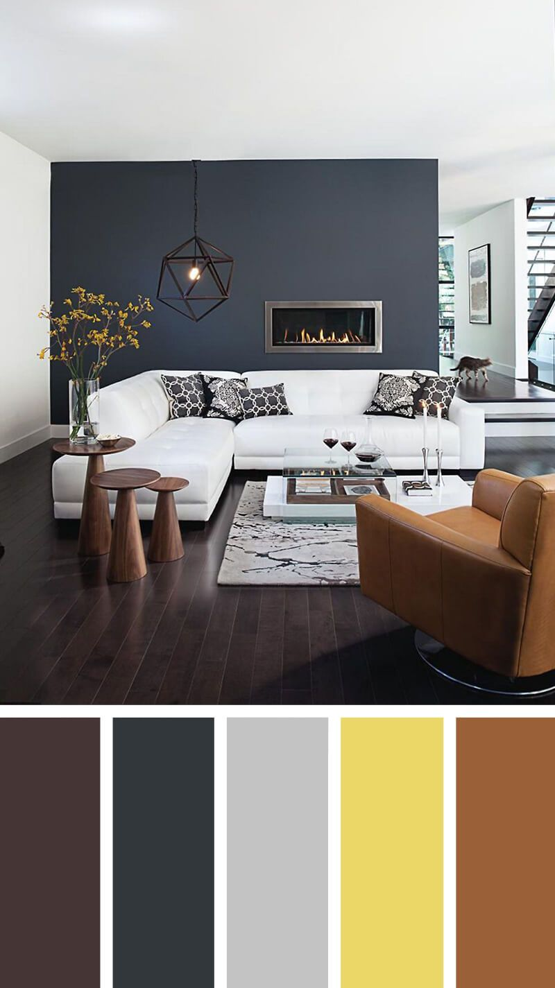 One Living Teal Color Space And Bedroom Walls Painting - Grey Brown Living Room Ideas - HD Wallpaper