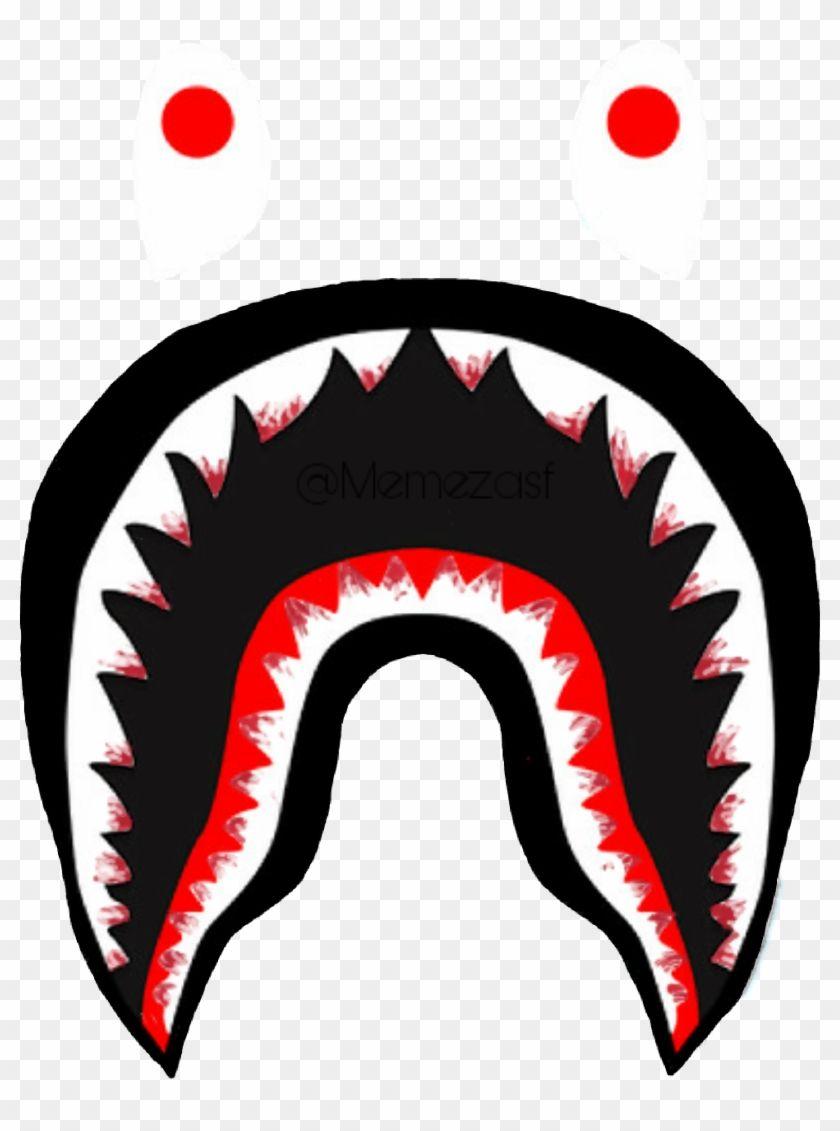 Bloody Bape Logo Teeth Shark Supreme Bathingape Memezas - Bape Shark Png - HD Wallpaper